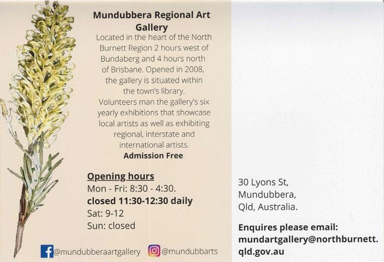 Mundubbera Regional Art Gallery Info